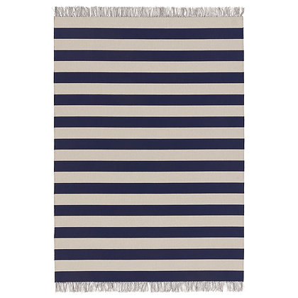 """Woodnotes """"Big stripe in/out"""" navy blue-light sand"""