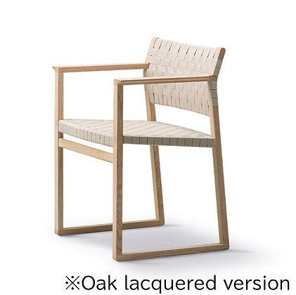 "Fredericia""BM62 Armchair Linen Webbing"" Oak lacquered"