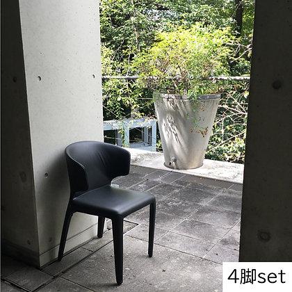 """【約38%OFF】Cassina """"367 HOLA"""" Arm Chair Graphite(4脚set)【新品在庫】"""
