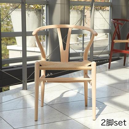 "【25%OFF】Carl Hansen & Søn ""CH24"" Wishbone Chair Beech Soap (2脚set)【新品在庫】"