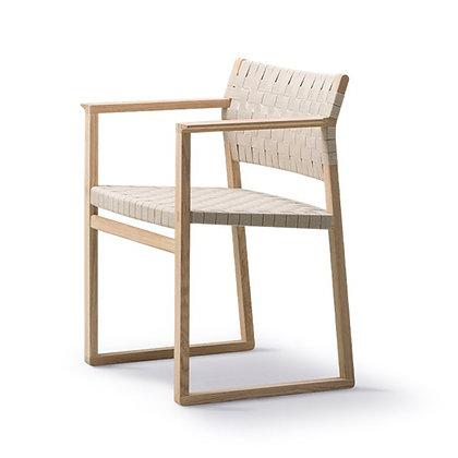 "Fredericia ""BM62 Armchair Linen Webbing"" Oak oiled"