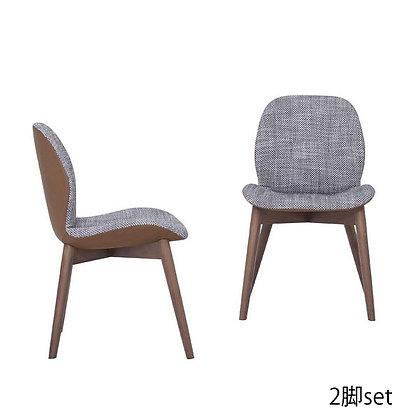 "Tonin CASA ""SORRENTO ÉSPRIT-8044"" Flora fabric + leather (2脚set)"