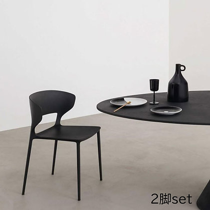 "【約27%OFF】DESALTO ""Koki"" F39(black)(2脚set)"