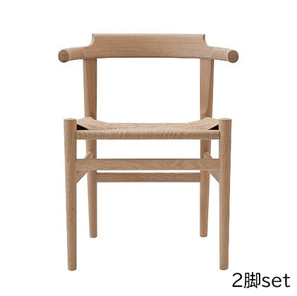 "PP Møbler ""PP68 Last Dining Chair"" Oak Soap (2脚set)"