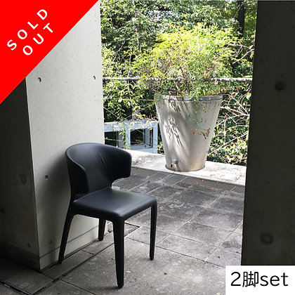 """【Sold Out】【約38%OFF】Cassina """"367 HOLA"""" Arm Chair Graphite(2脚set)【新品在庫】"""