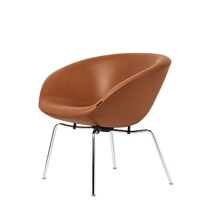 "【約15%OFF】FRITZ HANSEN ""POT chair Model 3318"" Leather cat.5 Grace walnut"
