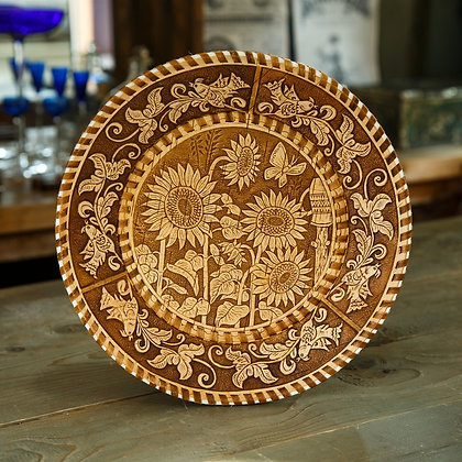 Декоративная тарелка берестяная