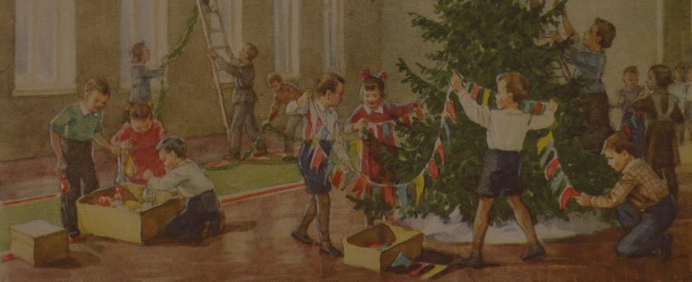 Советские новогодние открытки (обложка).
