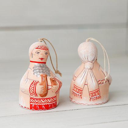 Декоративный керамический колокольчик