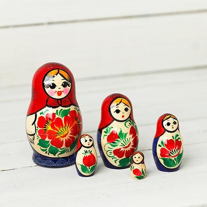 Сувенирная матрёшка 5-и кукольная