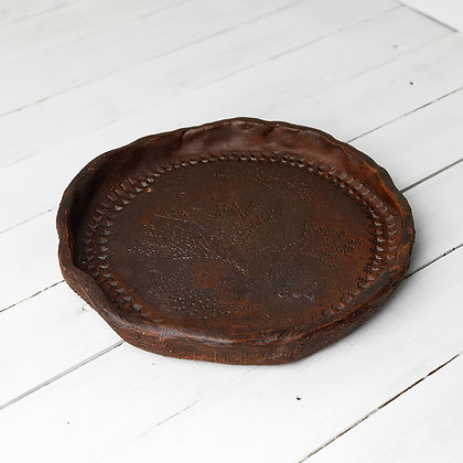 Тарелка глиняная
