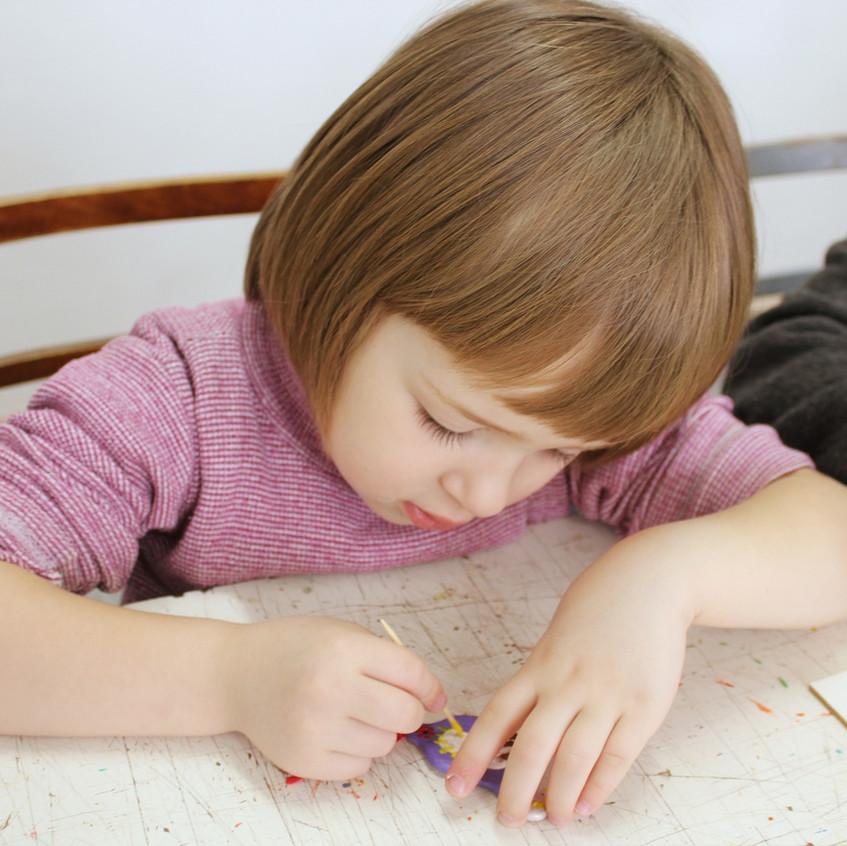 Мастер-класс росписи керамической загото