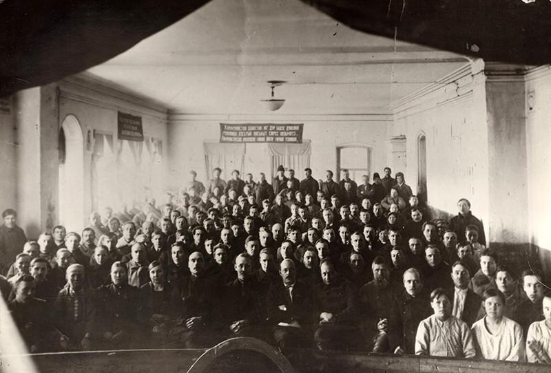 Делегаты VI областного съезда Советов Уд
