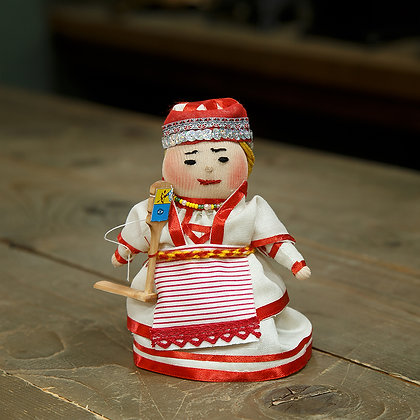 Кукла народная с прялкой Глазов
