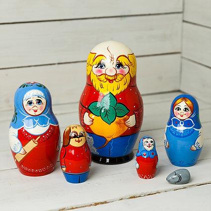 Сувенирная матрёшка Репка 6-и кукольная