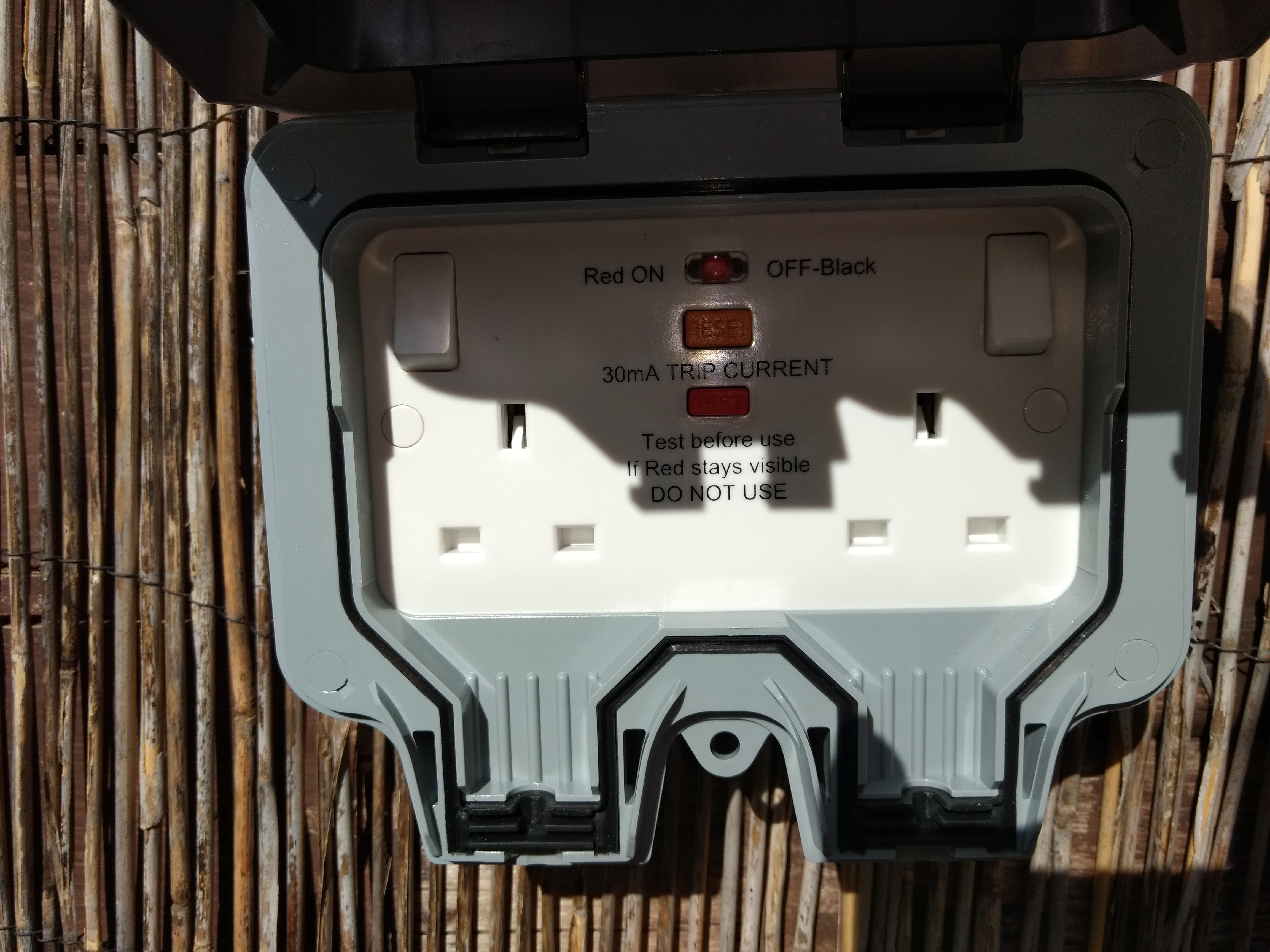 RCD Protected IP67 socket