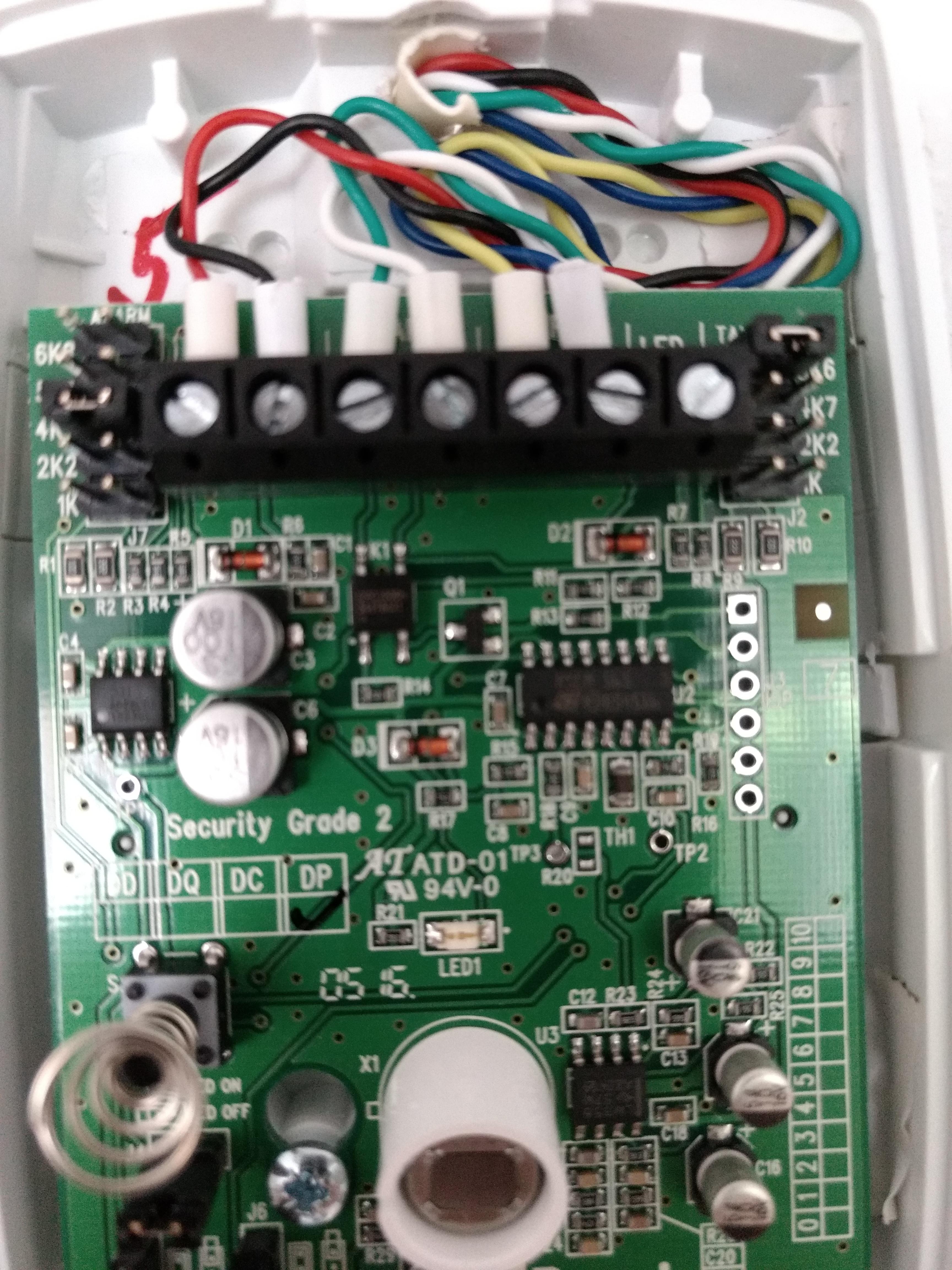 PIR Motion Detector Wiring