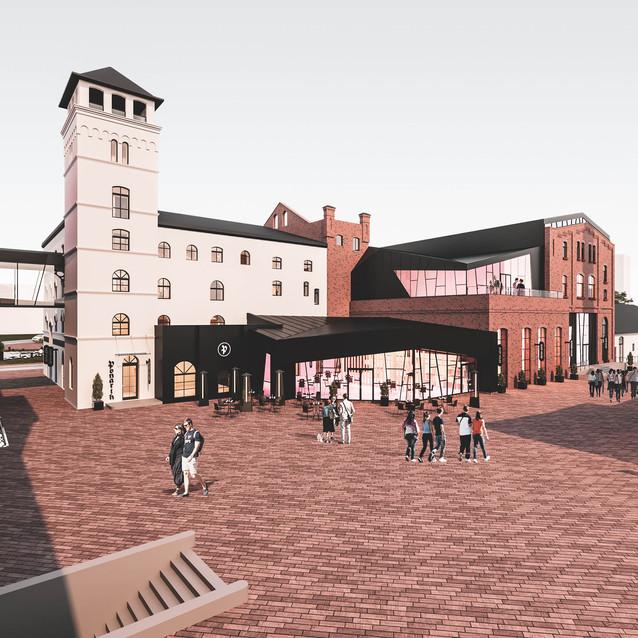 Вид на итальянскую башю и новый павильон
