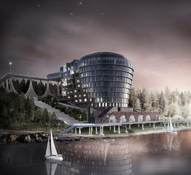 Концепция фасадов гостиницы, Калининградская область, г.Светлогорск