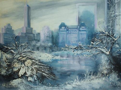 Central Park sous la glace - Tableau