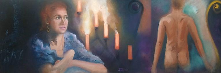 Le chagrin d'Eurydice tableau de Bénédicte Grange Rogulski