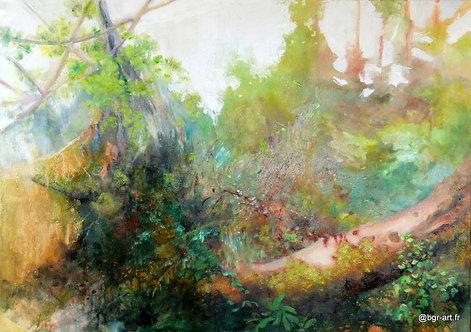 """""""Le sang rose des arbres verts""""- Hommage à Arthur Rimbaud - Tableau"""