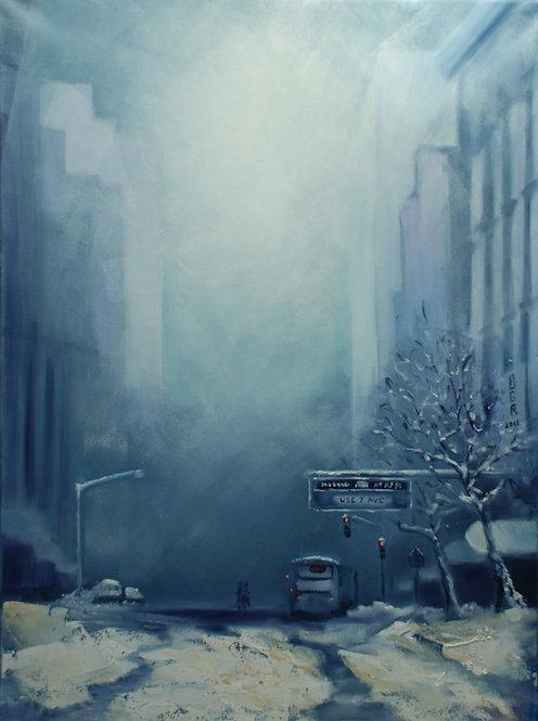 Jour de neige à Manhattan - Tableau
