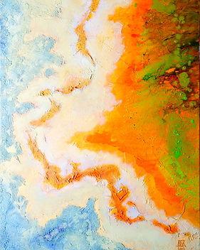 YellowstoneV tableau abstrait Benedicte Grange Rogulski