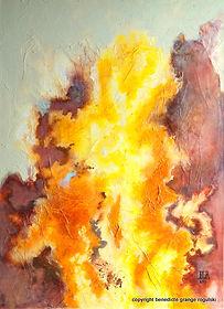Yellowstone II tableau abstrait benedicte Grange Rogulski