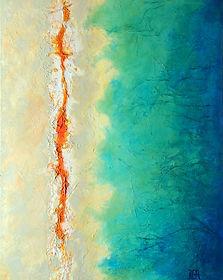 YellowstoneIV tableau abstrait Benedicte Grange Rogulski