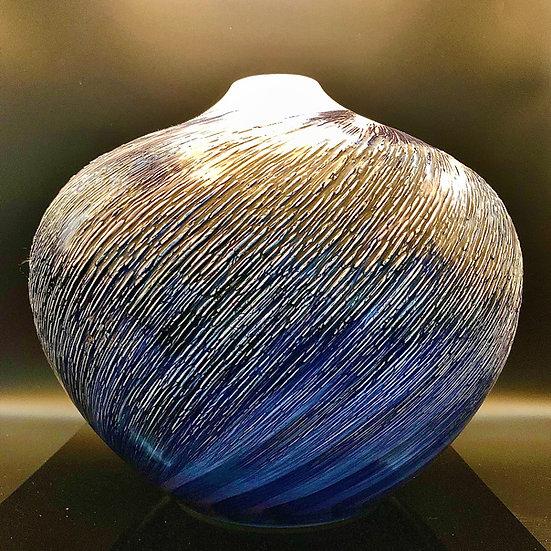 "Yasuaki Maeda Vase Large ""Whirpools"" Arita Vase."