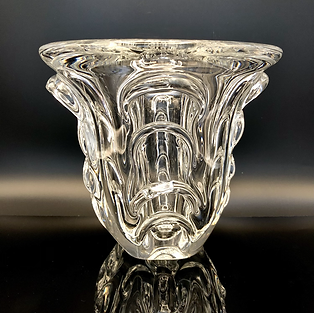 BELGIUM -  Val St. Lambert Crystal Glass Vase by Guido Bon