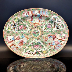 Large famille rose medallion platter