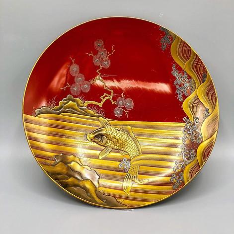 Edo or Meiji era lacquered dish - Maki-e Sakazuki
