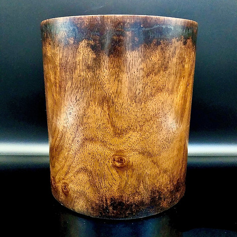 Qing Dynasty Huanghuali Brushpot Bitong