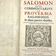 "1635. Salomon Sive Commentarius in Proverbia Salomonis"" by R. P. Cornelius Cornelii a Lapide. Rare First Edition."