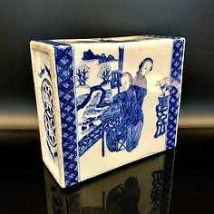 Porcelain Blue & White Opium Pillow