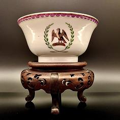 Export armorial porcelain bowl, Eagle design, C.1790.