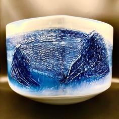 Shumei Fujii - Large Japanese Arita abstract painting Vase