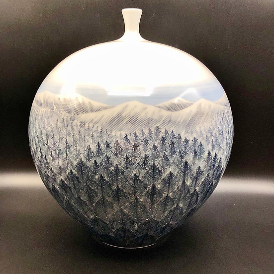 Shumei Fujii Large Arita Vase