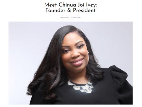IMA Founder & President, Chinua Joi Ivey, Featured in SHOUTOUTATLANTA