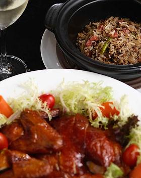 Baked Crispy Chicken Stuffed with Black Truffle Fried Rice and Green Salad 焗脆皮雞釀黑松露炒飯和沙律_7.jpg