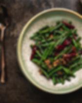 乾燒豚肉法邊豆 Stri-fried French Beans with Min