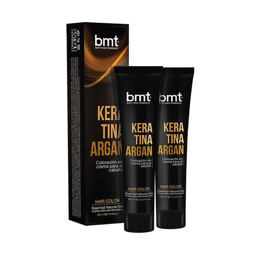 BMT KERATINA ARGAN #5.35 CASTAÑO CLARO CHOCOLATE 2X60ML