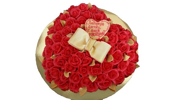 "Торт ""101 троянда"""