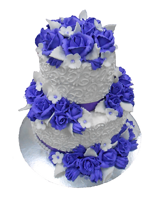 "Торт ""Блакитна троянда"""
