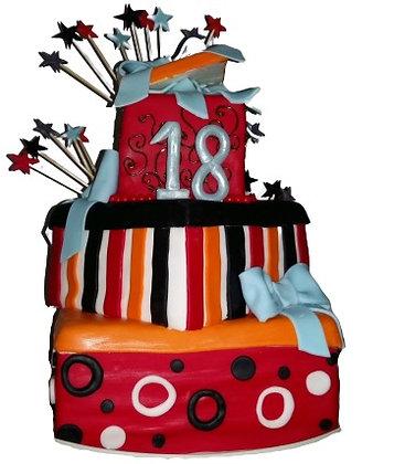 Торт на 18-річчя