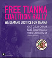 Free Tianna Rally Oct. 22nd 8:00am