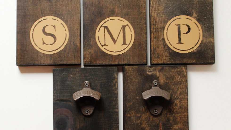 Custom monogram bottle opener