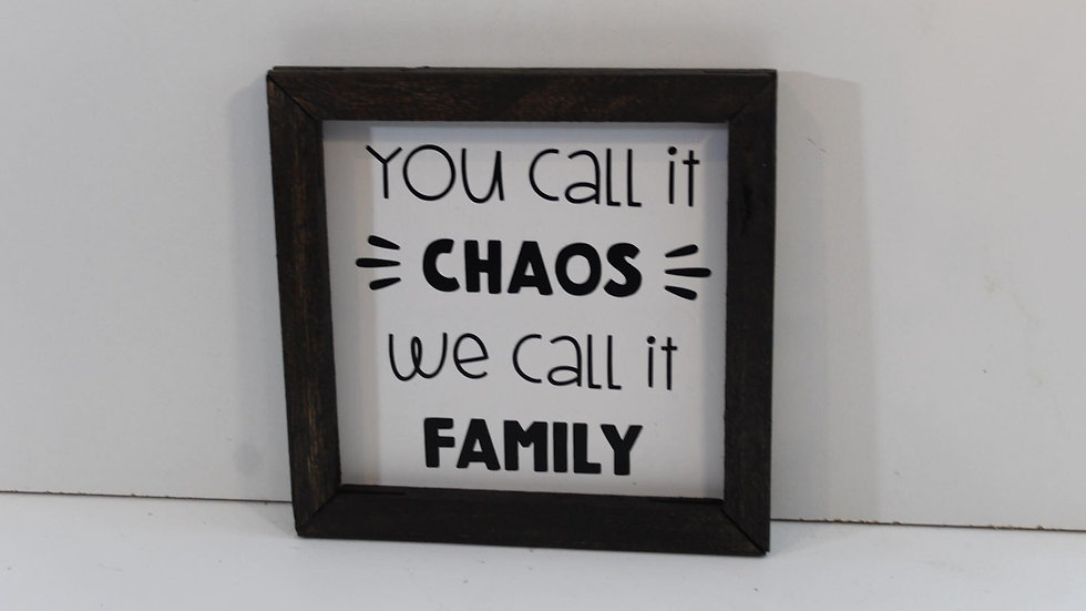 you call it chaos sign